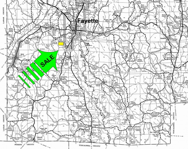 Land Joining Fayette City Limits Hargrove Properties